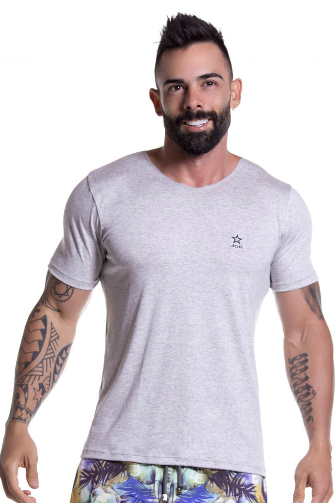 JOR 0803 Basic T-Shirt Color Gray