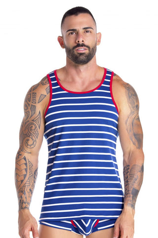 Joe Snyder JS29 V Neck Tank Top Color White