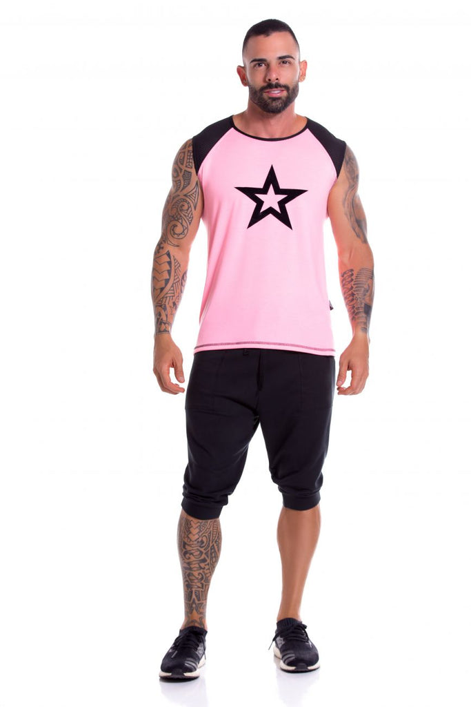 JOR 0857 Astro Tank Top Color Pink