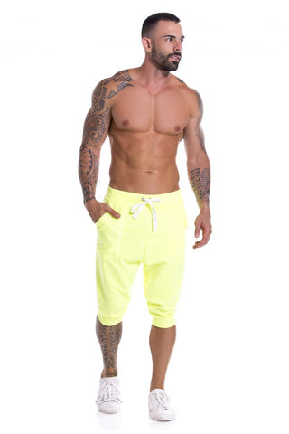 JOR 0931 Neon Athletic Pants Color Orange