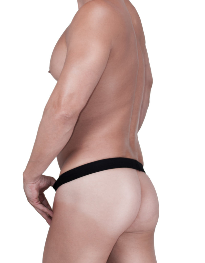 WildmanT Raw Strapless Mesh Jock with C-ring Loop and Duraband Black