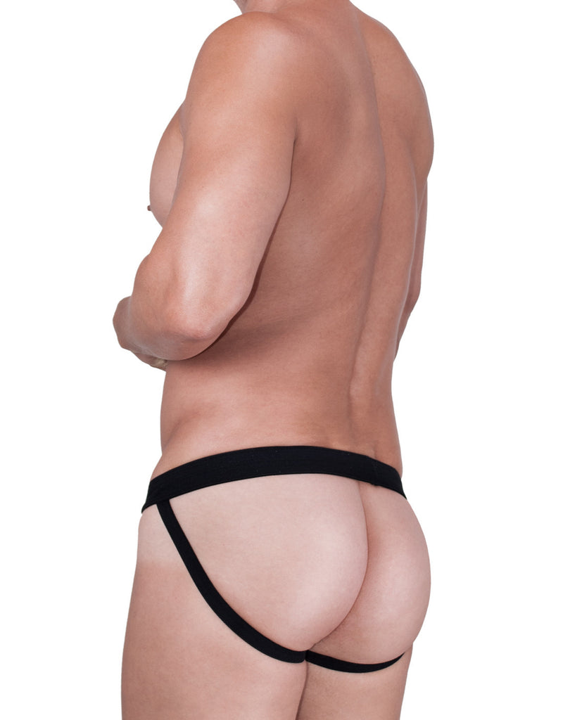 WildmanT Raw Mesh Jockstrap with Duraband Waistband Black