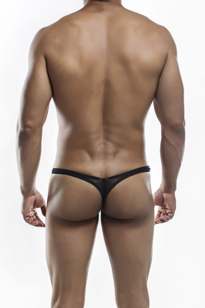 Joe Snyder JSMBUL06 Maxi Bulge Thongs Color Black Mesh