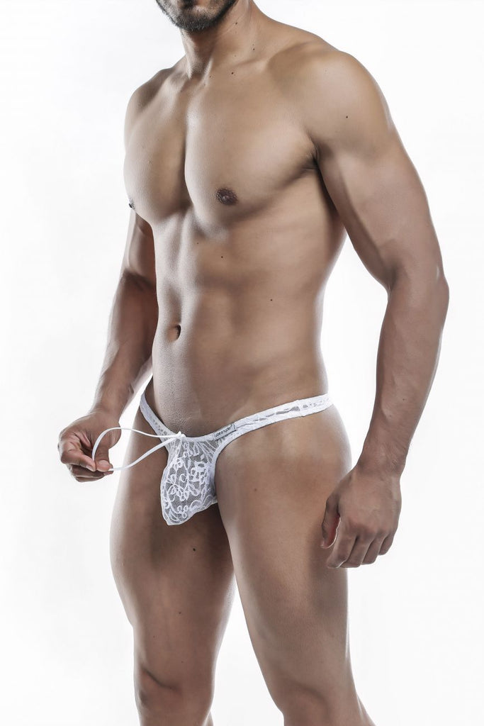 Joe Snyder JSMBUL06 Maxi Bulge Thongs Color White Lace