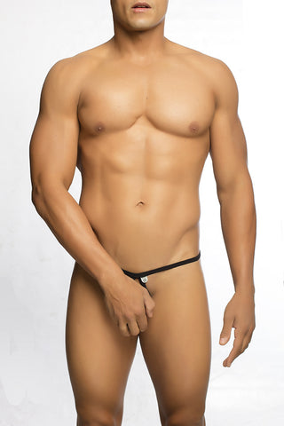 Male Power 432202 Athletic Mesh Sport Thong Color Black