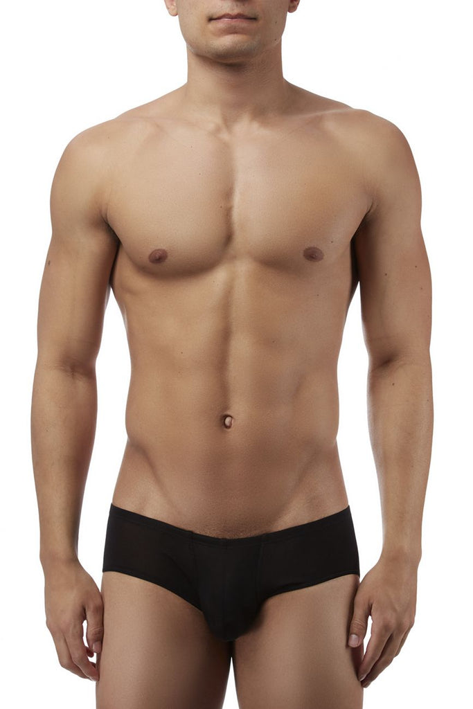 Magic Silk 7006 Silk Knit Mini Pouch Short Briefs Color Black