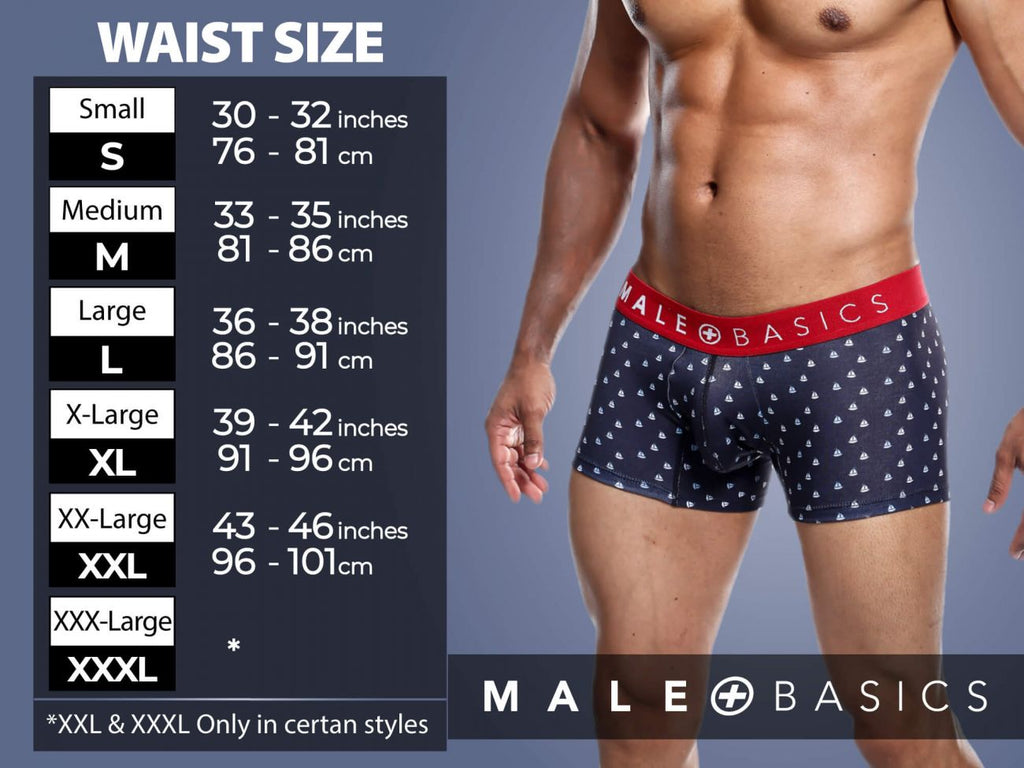 MaleBasics MBL51 Sinful Trunks Color White