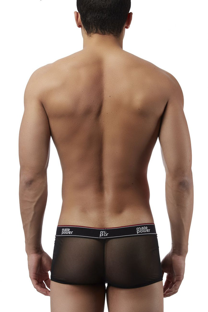 Male Power 145056 Branded Mesh Pouch Boxer Briefs Color Black