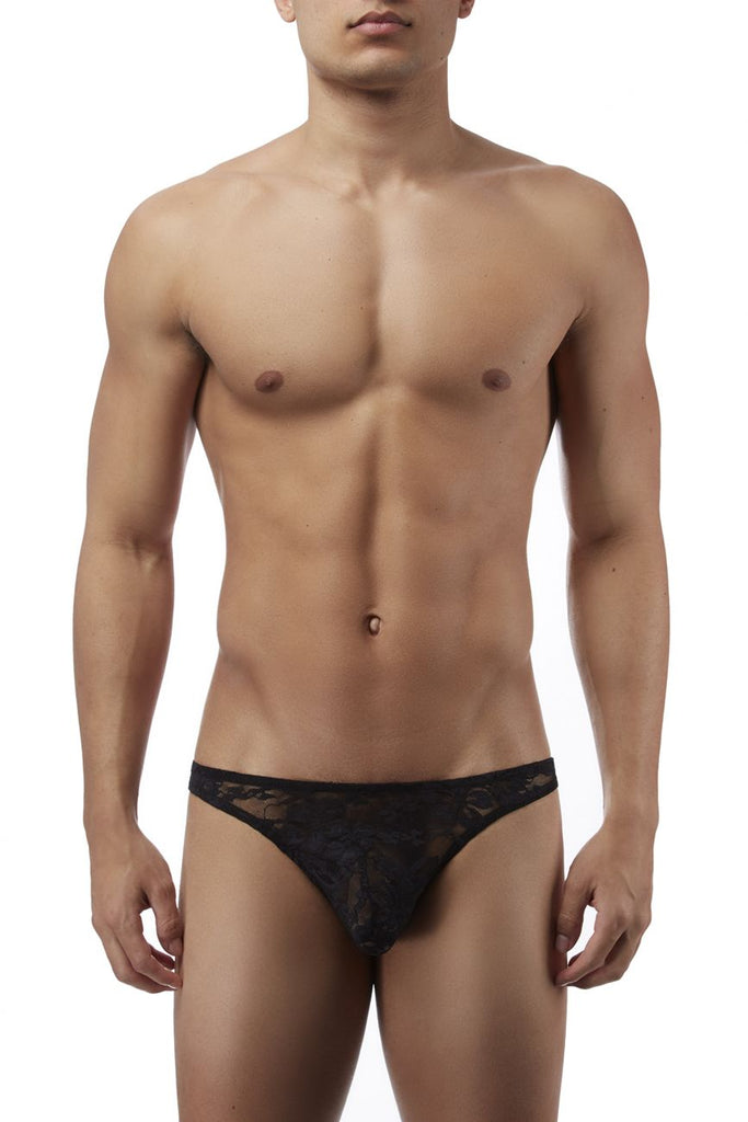 Male Power 491162 Stretch Lace Wonder Bikini Color Black