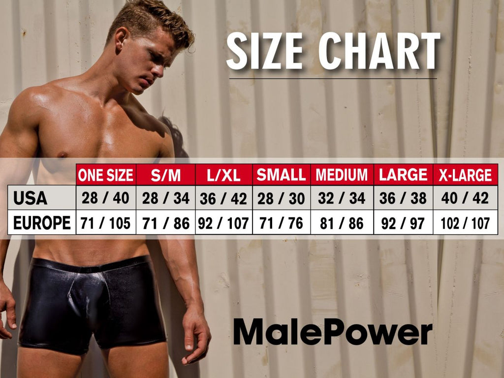 Male Power 145176 Black Cobra Mini Short Boxer Briefs Color Black