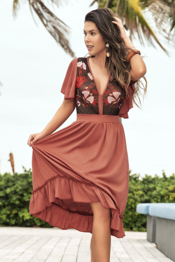 Mapale 4648 Dress Color Terracotta