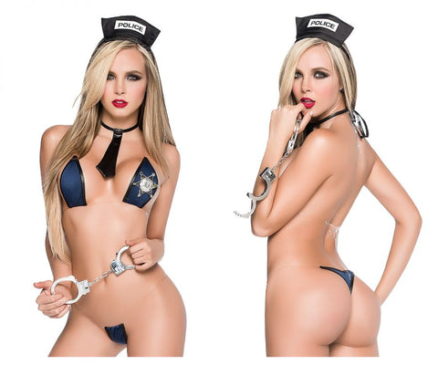 CandyMan 9555 Police Costume Outfit Color Black
