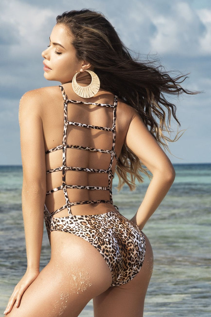 Mapale 6543 One Piece Swimsuit Color Animal Print