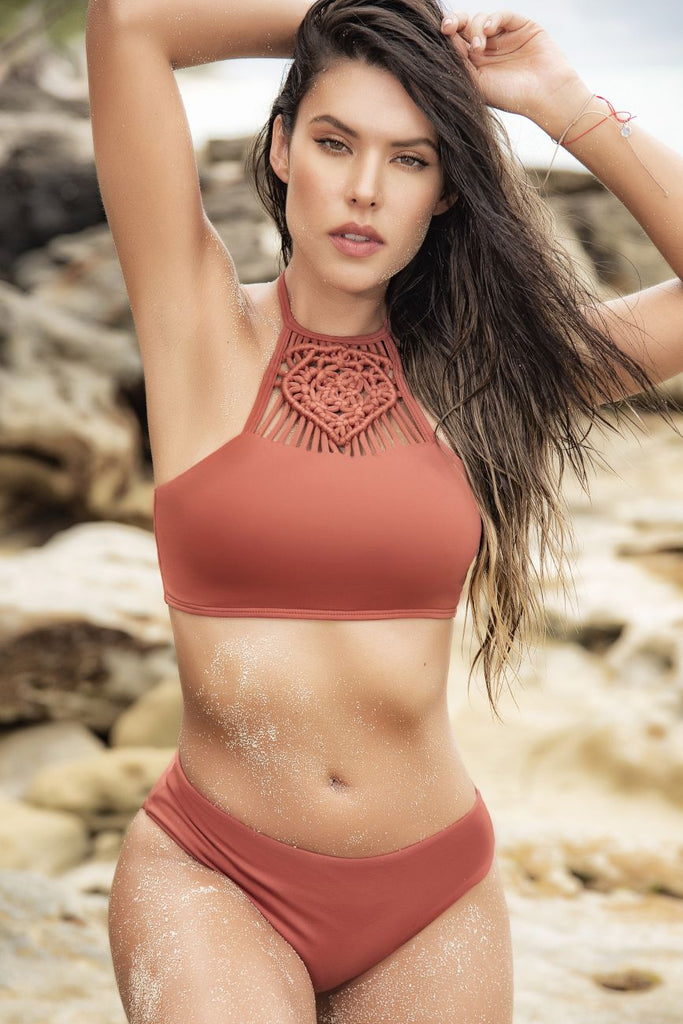 Mapale 6550 Two Piece Swimsuit Color Terracotta