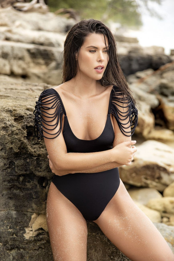 Mapale 6558 One Piece Swimsuit Color Black