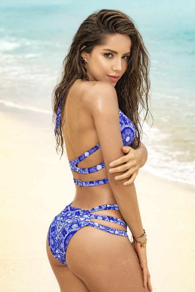 Mapale 6568 Two Piece Swimsuit Color Mediterranean Blue