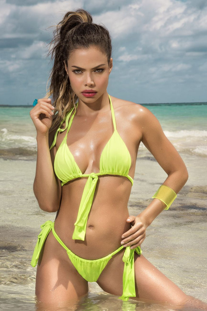 Mapale 6574 Two Piece Swimsuit Color Hot Green