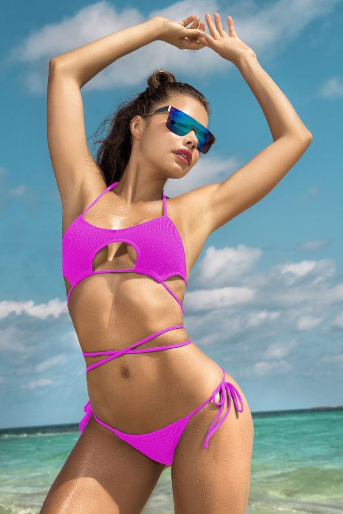 Mapale 6581 Two Piece Swimsuit Color Neon Pink