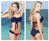 Mapale 6880 Molded Cup Two Piece Swimsuit Color Blue