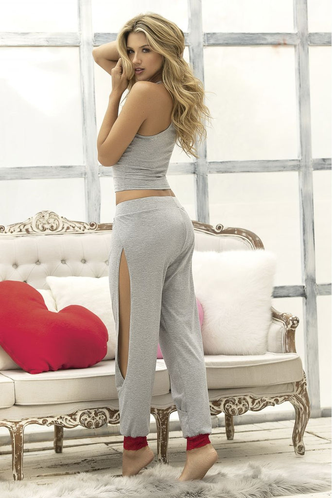 Mapale 7237 Two Piece Top and Pants Sleepwear Set Color Gray