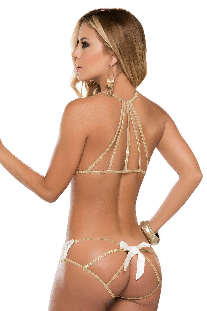 Mapale 8134 Two Piece Lingerie Set Color Ivory