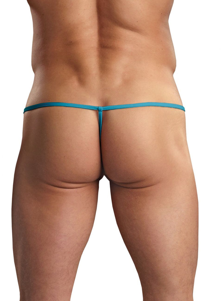 Male Power PAK870 Euro Male Spandex Pouch G String Color Blue