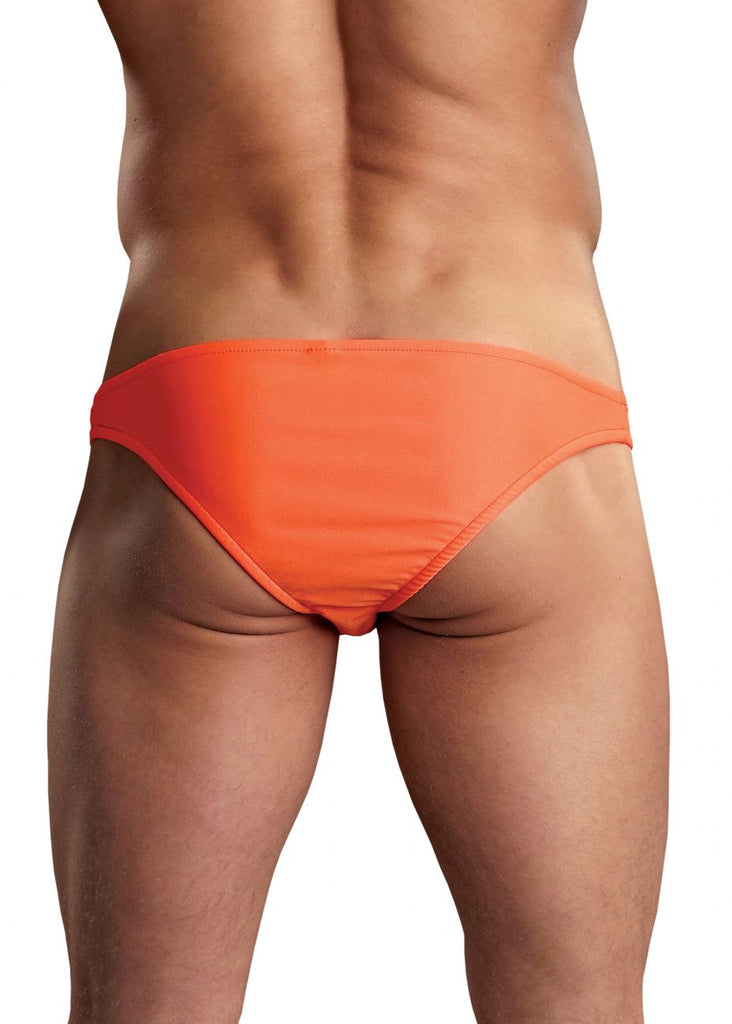 Male Power PAK871 Euro Male Spandex Brazilian Pouch Bikini Color Orange