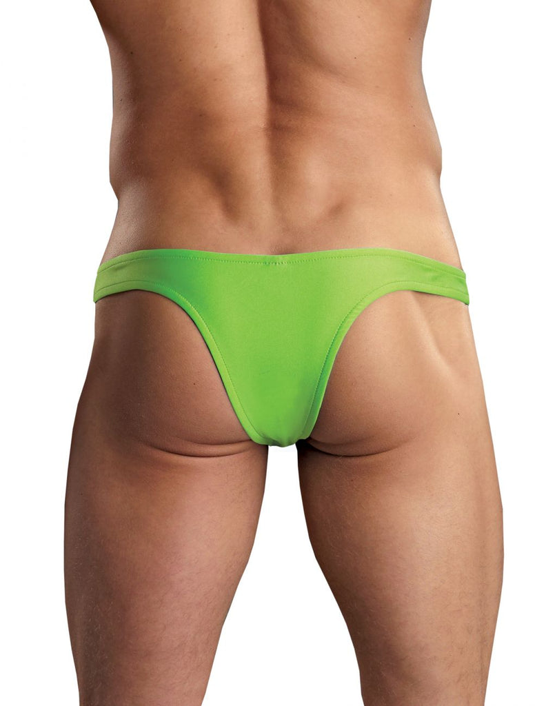 Male Power PAK874 Euro Male Spandex Full Cut Thong Color Lime