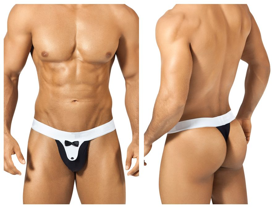 PPU 1312 Tuxedo Thong Color Black-White