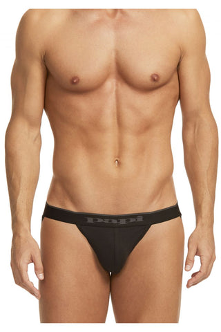 Papi 980911-941 3PK Cotton Stretch Jockstrap Color Black-Cobalt-Blue
