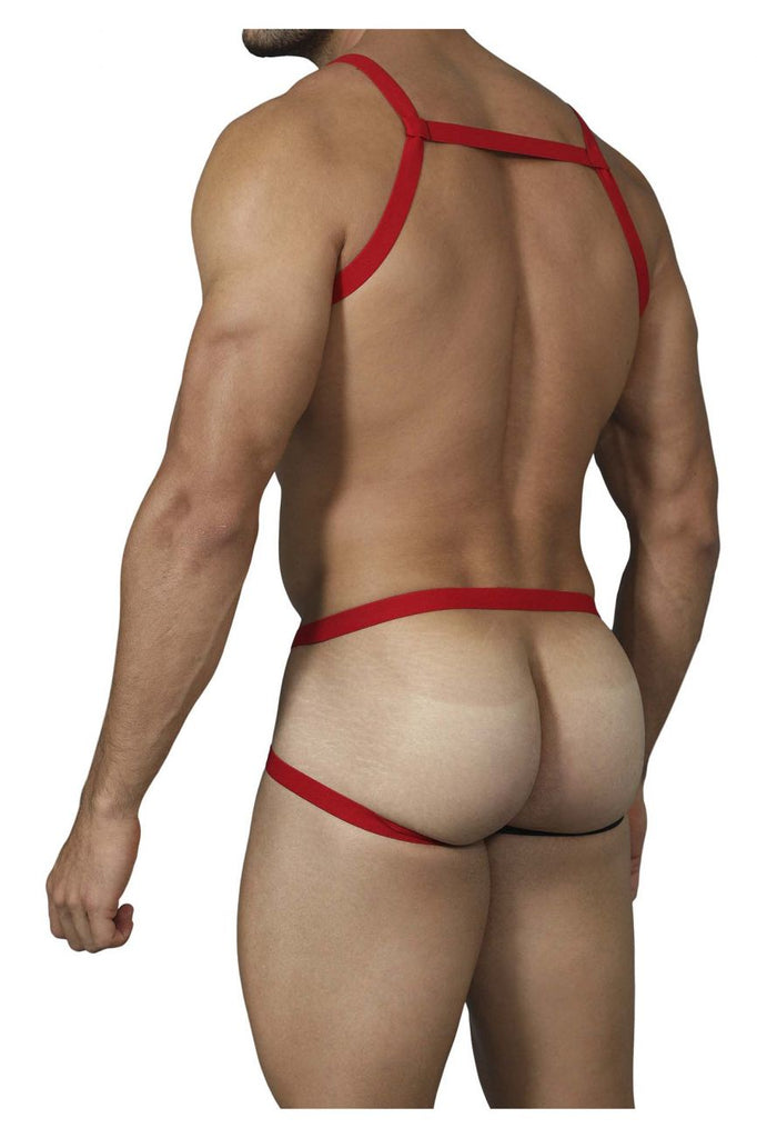 Pikante PIK 0216 Satisfaction Harness Jockstrap Color Red