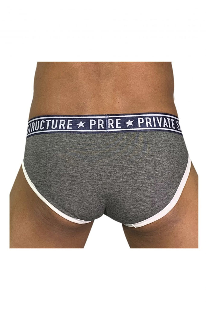 Private Structure EPUY4019 Pride Mini Briefs Color Shade Gray
