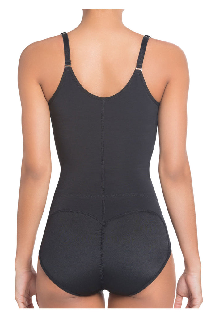 Siluet 1025 Extra-Strength Compression Shapewear with Latex Color Black