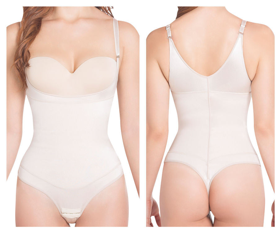 Siluet 1107T Extra-Strength Compression Body Shaper-Nude-M