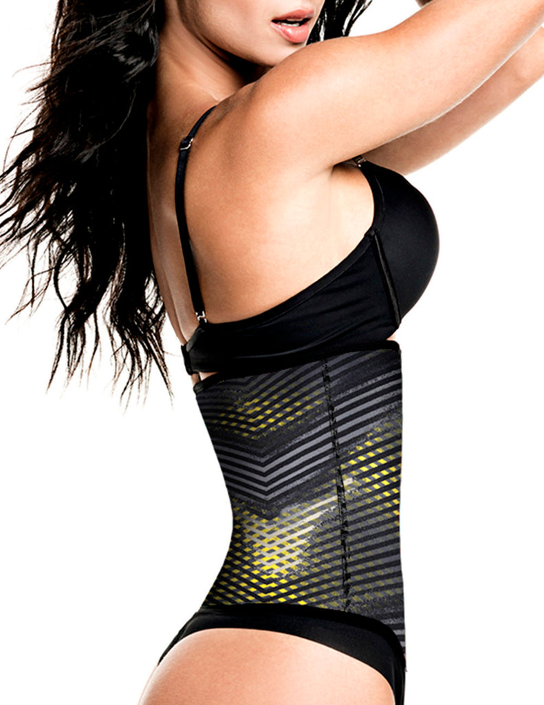 TrueShapers 1032 Latex free Workout Waist Training Cincher Color 07-Print