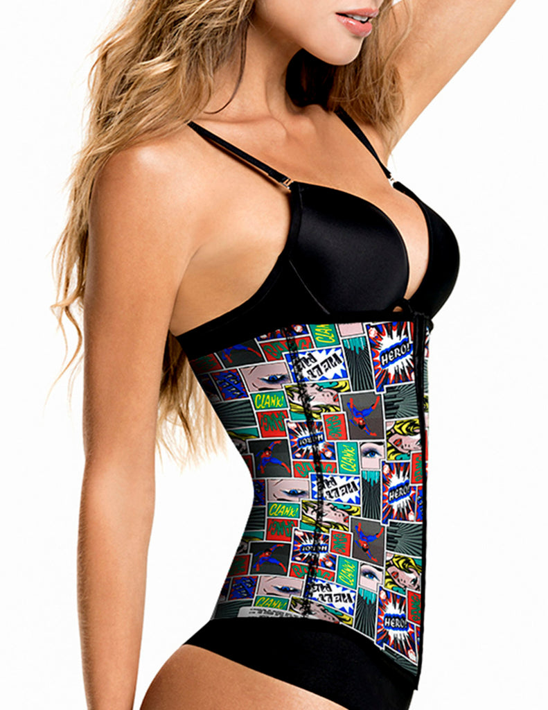 1041 Latex free Waist Training Cincher Color Print-04