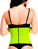 TrueShapers 1061 Latex free Workout Waist Training Cincher Color Green