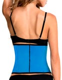 TrueShapers 1061 Latex free Workout Waist Training Cincher Color Turquoise