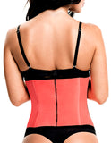 TrueShapers 1063 Latex free Workout Waist Training Cincher Color Coral