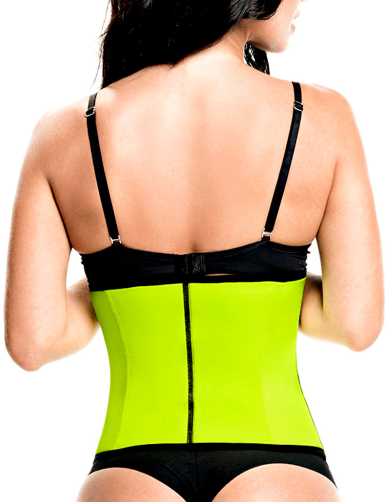 TrueShapers 1063 Latex free Workout Waist Training Cincher Color Green