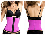 TrueShapers 1063 Latex free Workout Waist Training Cincher Color Fuchsia