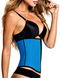TrueShapers 1063 Latex free Workout Waist Training Cincher Color Turquoise