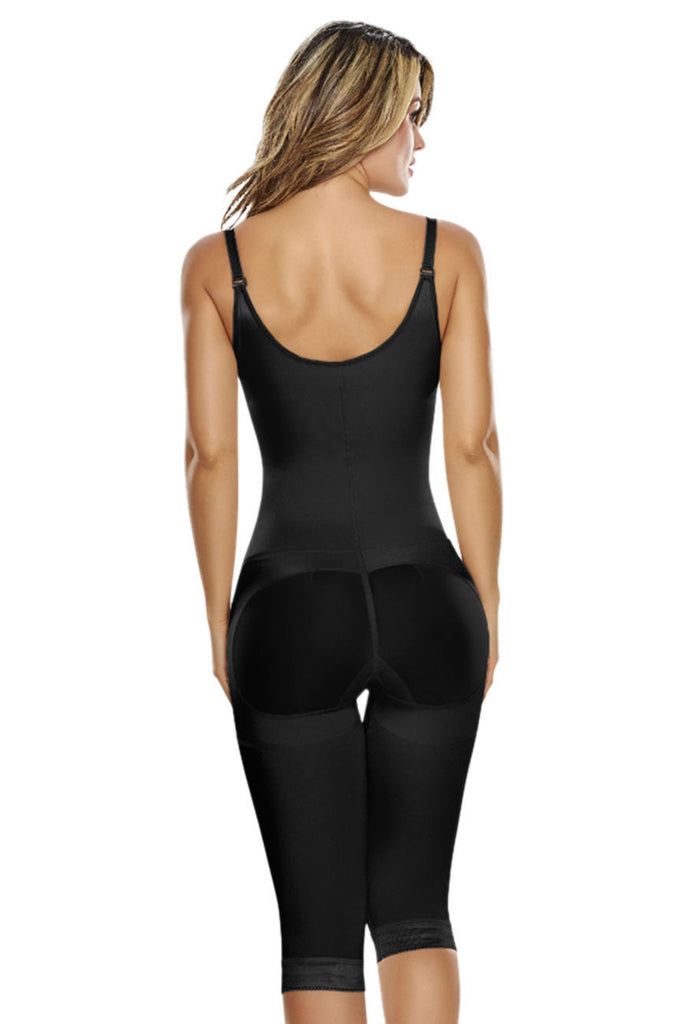 TrueShapers 1222 Slimming Braless Body Shaper With Thighs Slimmer  Color Black