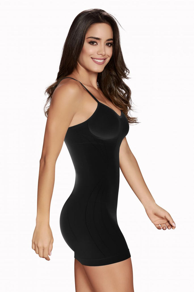 TrueShapers 1234 Slimming Seamless Slip Color Black