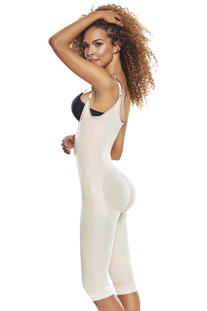 TrueShapers 1252 Slimming Braless Body Shaper Girdle With Thighs Slimmer Color Beige