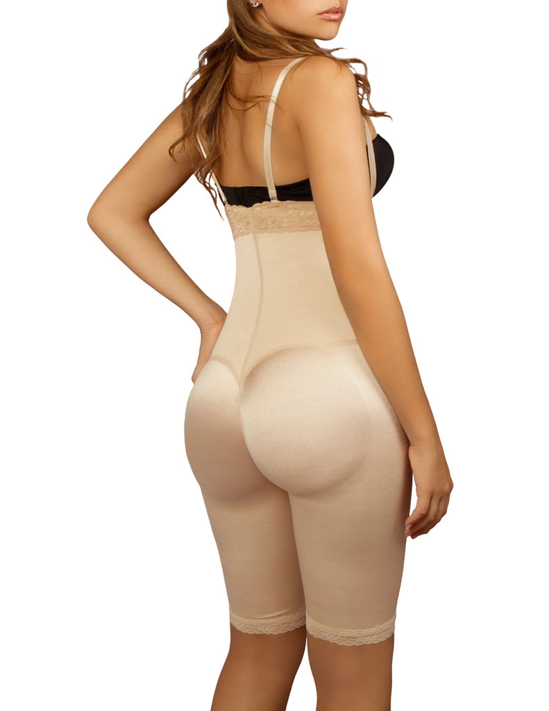 Vedette 135 Irina Strapless Mid Thigh Full Body Shaper Color Nude