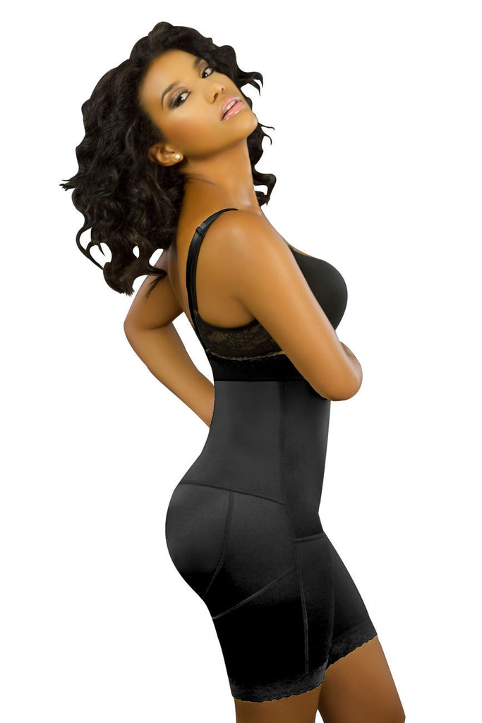 Vedette 174 Jade Strapless Bodysuit Color Black