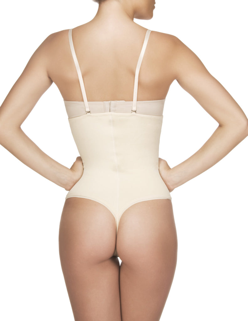 Vedette 211 Nadine Strapless Bodysuit in Thong Color Nude