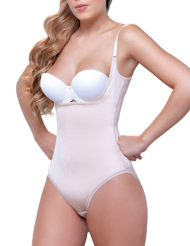 Vedette 904 Therese Open Bust Bodysuit  Color Nude