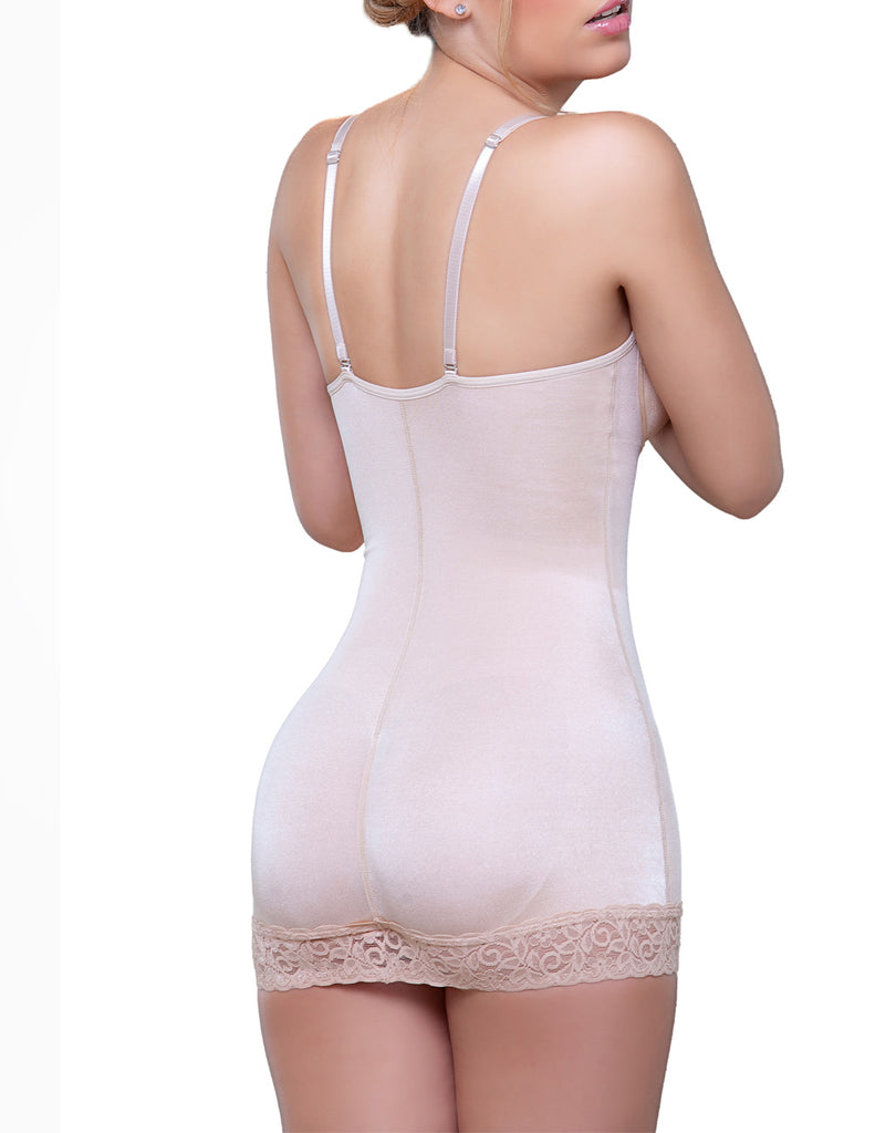 Vedette 917 Abella Shaping Skirt Bodysuit w/ Bra Color Nude